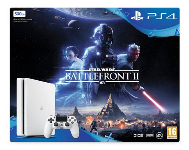 SONY PS4 500GB Slim White Star Wars BattleFront II