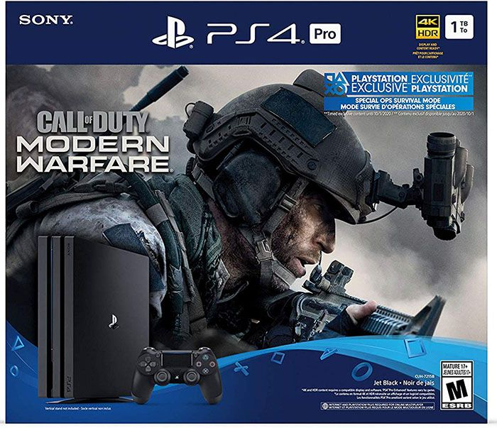Playstation 4 PRO 1TB Black Slim + Call Of Duty - Modern Warfare